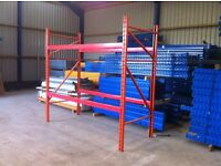 REDIRACK HEAVY DUTY INDUSTRIAL WAREHOUSE PALLET RACKING UNIT BAY 3.4m wide beams