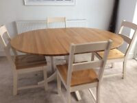Laura Ashley dining table & 4 chairs - absolute bargain!