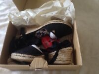 Brand new espadrilles size 7 still with label on and boxed £13 buyer collects