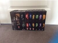 X Files complete seasons 1-9 box sets, used
