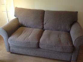 2 sofas 1 2 seater and 1 3 seater sofas medium brown gc
