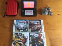 Nintendo New 3DS XL Black with games