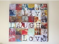 Large canvas picture. Cheerful and bright. Never used.