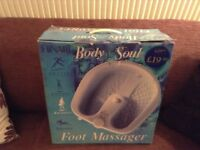 Foot massager, Hinari Body and Soul. Boxed, good condition, used. 3 settings.,
