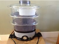 Electric 3 tier steamer