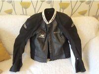Hein Gerike leather bike jacket as new worn twice