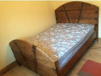 Rustic / Mexican pine double bed