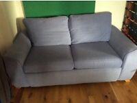 Lilac 2 seater sofa