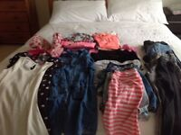 Bundle of girls clothes 9-11 year