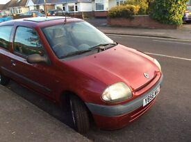 2001 Renault clio, 1.2, 3dr, petrol