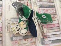 Converse canvas shoes size 4 x 2
