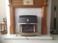 Fire surround & marble hearth