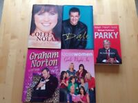 Selection of Autobiographies only 25p each or £1 for all 5 – titles listed below