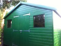 Excellent condition heavy duty garden workshop / large shed for sale 12 x 8 foot. Only 18m old.