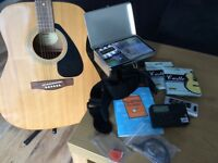 Great value acoustic guitar & stand - Yamaha F310
