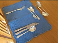 Silver plated cutlery. 10 place settings