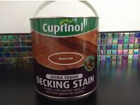 Cuprinol decking stain - 6 unopened tins available @ £15 each