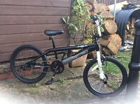 BMX bike with stunt pegs immaculate condition hardly used