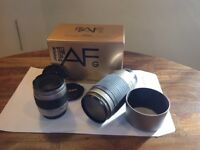 2 used Nikon lens, 70-300mm 1.4-5.6G & 28-80mm, lens caps, skylight filters & hood included
