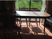 Wooden Table and 6 Chairs (2 of which carver)