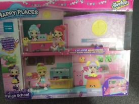Shopkins sparkle hill high school with accessories