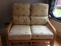 Sofa, chair and table ideal for conservatory FREE