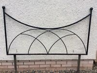 King Size Headboard, Handmade from steel, painted black, £40.00.