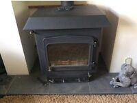 Woodwarm multi fuel wood burner 35KW with flat top roof boiler