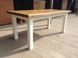 New solid pine dining table 6ftx3ft handmade bench chairs chunky rustic shabby chic farmhouse