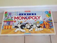 Waddingtons Junior Monopoly,All Boxed Like New.