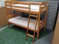 It's Bed Time - Jack Bunk Bed + 2 Mattresses - Antique Pine