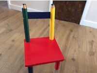 Wooden chair and table only 8£