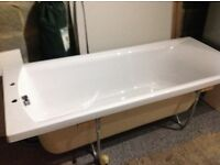 Bath with front and end panel