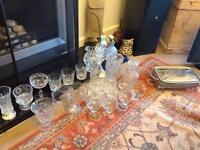 Glasses, bowls, decanter , jugs