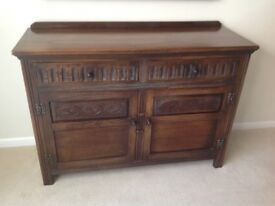 Priory/Old Charm style carved sideboard