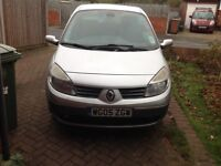 Renault Grand Scenic 1600cc petrol. 7 Seater. M.O.T until May 2018