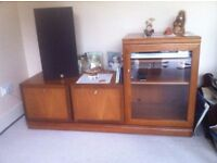 lovely wooden stereo cabinet. very good condition