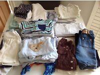 Big bundle of baby boy clothes (0-3 months)