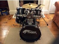 Kids 5 five piece Tiger drum kit