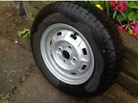 155 X 13 wheel with tyre