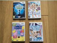 4 Nintendo Wii games £2 each or £5 for all 4