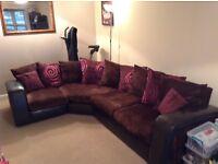 Corner sofa and Tub chair