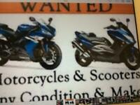 Motorbike scooter moped or quad wanted cash waiting will collect.