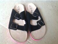 Girls New Next open back sandal size 5