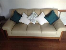 3 piece suite and footstool.