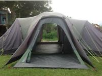 9/11 man dome tent with porch and 4 rooms