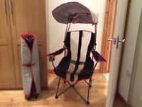 Kelsyus Premium Canopy Chairs ( colour red) Immaculate condition never used