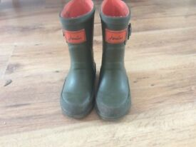Boys Joules wellies in size 8