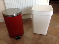 Two kitchen bins
