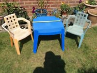Small plastic table and chairs